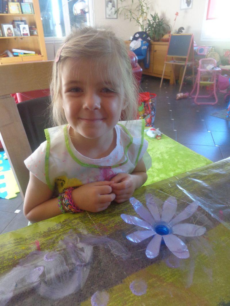 Fleurs avec bouteilles plastique - Bricolage avec bouchon plastique ...