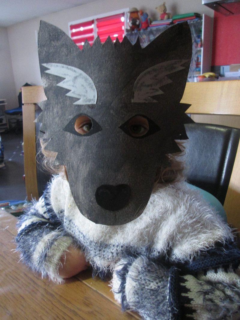 Carnaval - Masque de loup a fabriquer ...